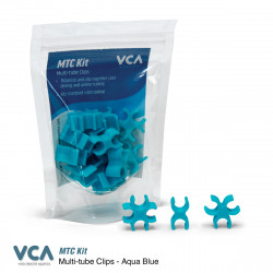Multi Tube Clips Aqua Blue VCA