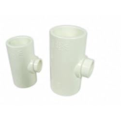 ROYAL EXCLUSIV - White PVC T-piece 32mm/32mm/16mm