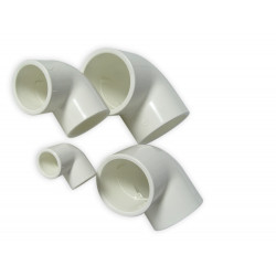 ROYAL EXCLUSIV - Coude PVC Blanc 90° 20mm