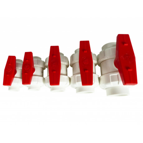 ROYAL EXCLUSIV - Union Ball Valves White/Red 20mm
