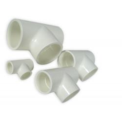 ROYAL EXCLUSIV - White PVC T-piece 25mm